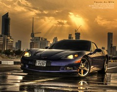 Corvette C6 (Talal Al-Mtn) Tags: 2005 city blue light red orange sun green cars water car rain yellow clouds buildings dark photography eos rebel automobile shot gray engine gear automotive system chrome kuwait manual rims v8 exhaust hks kuwaitcity intake corsa xsi q8 kwt corvettec6 450d canon450d  xpipe inkuwait talalalmtn  bytalalalmtn corvetteinkuwait