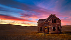 Solitude (Sheldon Nalos) Tags: old sunset house color abandoned oregon barn canon landscape farm explore rundown dalles 1dsmarkii 1740mml