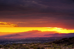 Patches Of Morning (jimhankey) Tags: park morning red summer arizona sky cloud sun mountain mountains phoenix weather clouds sunrise landscape dawn morninglight desert cloudy scenic parks sunny valley vista dramaticsky 2009 beautifulclouds beautifulview sunray desertview phoenixarizona southmountain phoenixaz cumulous scenicview desertmountain maricopacounty nikond200 unusuallight glowingcloud dearflickrfriend jimhankey arizonasummer arizonaweather phoenixweather phoenixariz