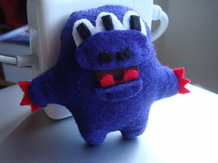 Purple Felt Monster