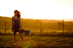 You Lazy Siren. (The Vision Beautiful) Tags: blue sunset portrait girl rain texas dress wind dusk lazy brunette siren goldenlight ashleyskillman