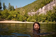 Elliot in the Buffalo River (Mr. Biggs) Tags: vacation water swim river arkansas elliot biggs mrbiggs buffaloriver steelcreek