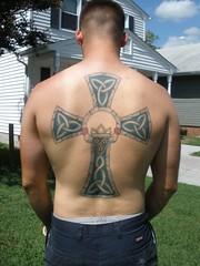 Tim's Tattoo (Tobyotter) Tags: shirtless man male guy tattoo ink tim friend tat