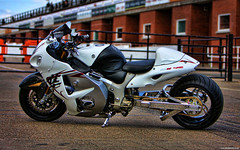 White Hayabusa Turbo (Betapix) Tags: man motorbike turbo motorcycle tt isle streetfighter iom hayabusa