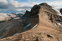 Return Home Via the Flanks of Mt. Thompson (Marc Shandro) Tags: summer mountains nature rockies high glacier alpine wilderness banffpark waptaicefield