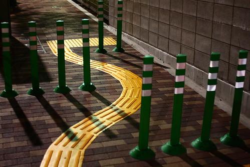 通りにくい歩道
