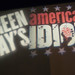 09243 Green Day's American Idiot courtyard light projection by geekstinkbreath