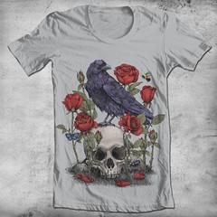 Memento Mori (igo2cairo) Tags: roses skull gothic insects mementomori threadless raven botanicalgarden lifedrawing teeshirts edgarallanpoe igo2cairo oldtattoodesign