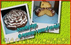 018 BIZCOCHO GRIEGO DE MANZANA Y PASAS AL RON MIEL