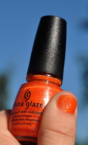 Halloween China Glaze color Dreamsicle