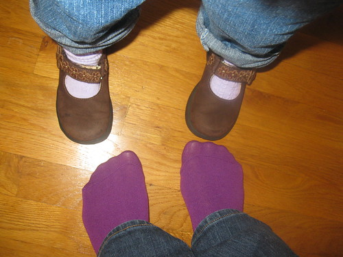 Magical purple socks