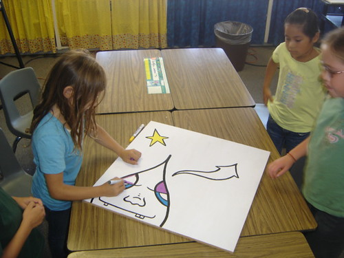 Painting With Third Graders - Oct. 2, 2009