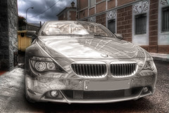 BMW 650i Coupe HDR 2 (marcp_dmoz) Tags: auto car canon silver reflections germany bayern deutschland bavaria eos map german coche bmw alemania 650 2009 coupe tone coup reflejos silber wagen alemn automobil spiegelungen pkw photomatix 50d tonemapping 650i deutscj