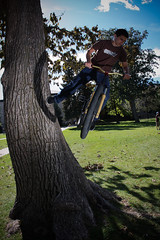 Footplant (Matt Lowber) Tags: street urban campus jumping bmx colorado dj boulder 180 dirt mtb trials treeride barspin