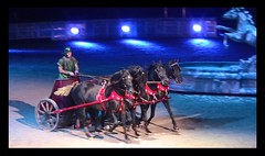 Ben Hur - Live - Rappengespann (roba66) Tags: friends horses beautiful photo action arena pferde spektakel benhur zirkus beautifulphoto worldtrekker atomicaward mbpictures benhurlive roba66