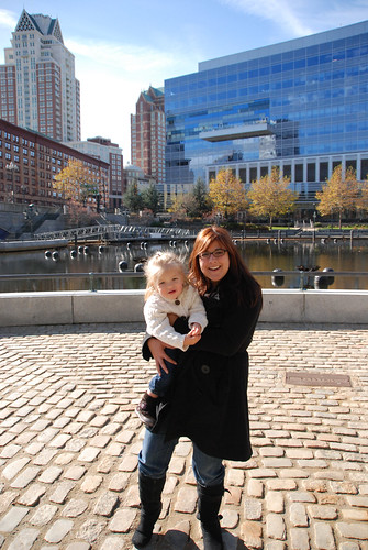 Eva at Waterplace Park with Dina Riccobono