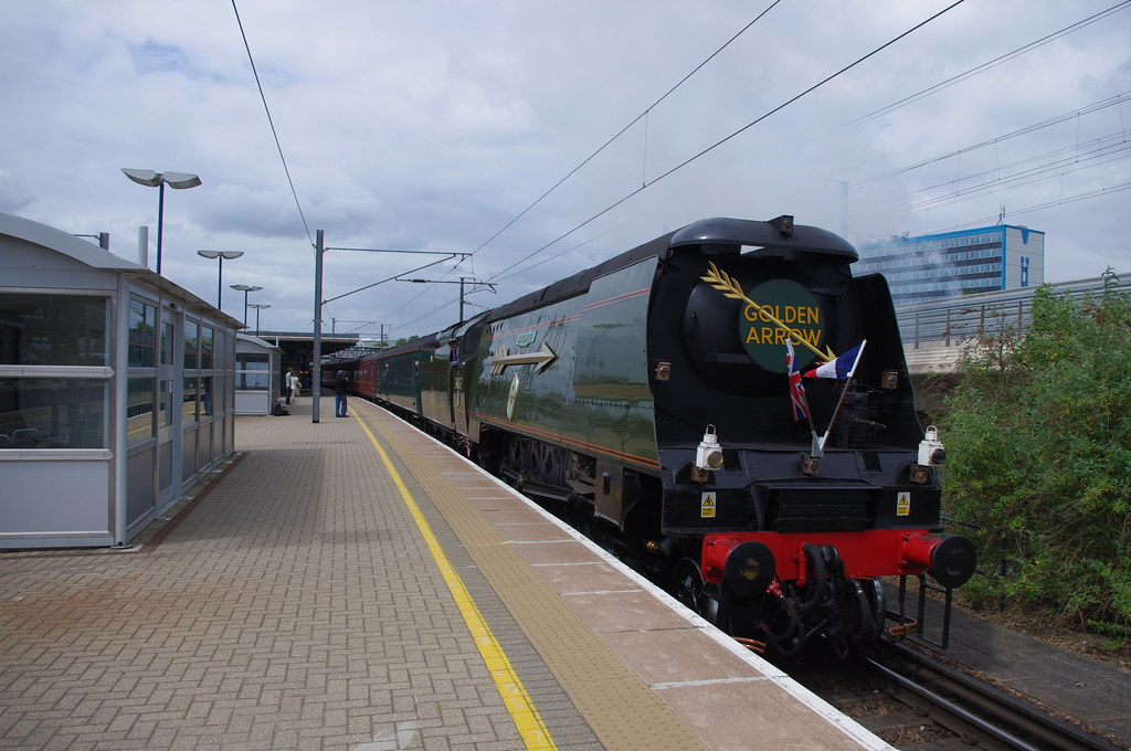 34067 Tangmere at Ashford International
