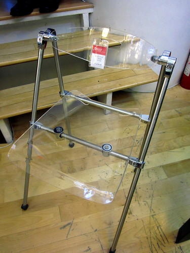 folding clear chair from decor