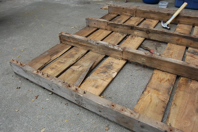 The pallets.