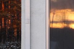 Home (pprrkk) Tags: winter sunset house snow home window forest evening estonia maja january lumi mets aken eesti kodu talv jaanuar htu loojang canoneos450d