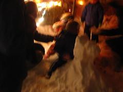 snow pony!!!!!! (kittiegeiss) Tags: children photoop snowpony meconfused neasmilingandwaving thesecondlittleoneseemedconfusedbutgotonanyway theyoungeroneisgenerallyconfusedbutwillusuallydoitiftheolderonedoes withnofurtherunderstandingofwhy therearemanypicturesofmysisterandiinpreciselythatsituation