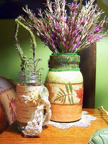 Shabby Olive Jar