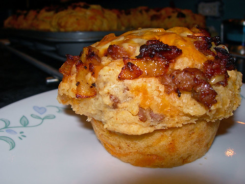 Cheese & Sausage Muffins
