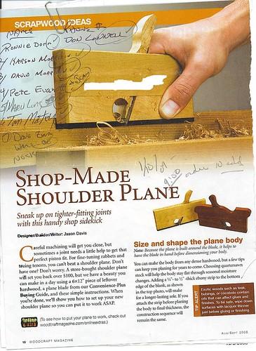 shoulder plane plans