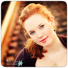 lenzi on the tracks (jaki good miller) Tags: portrait senior girl beautiful beauty redhead teen jakigood redhair pikecounty girlwithredhair seniorportrait girlonrailroadtracks girlontracks