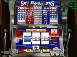 Sevens and Stripes No download Slot Game