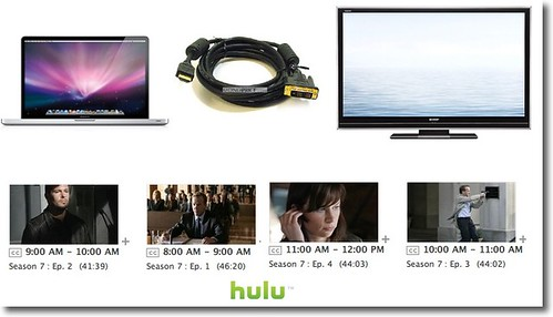 Mac to HD TV via DVI to HDMI to watch 24 on Hulu