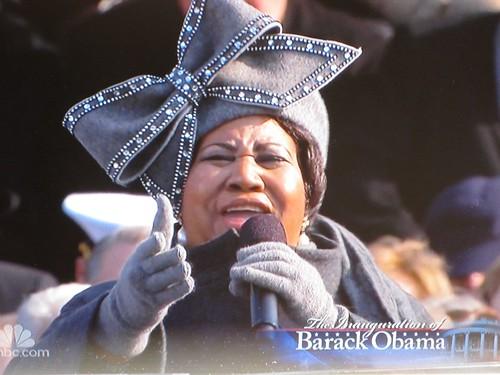 Aretha Franklin canta a Obama