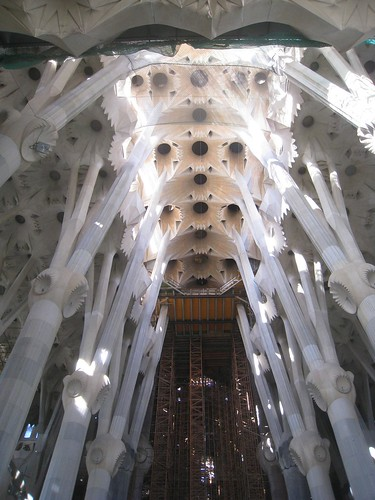 A view toward the cathedral's ceiling