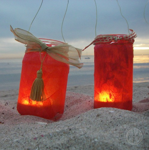 lanterns in the sand