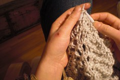 Ah, Friday knitting...