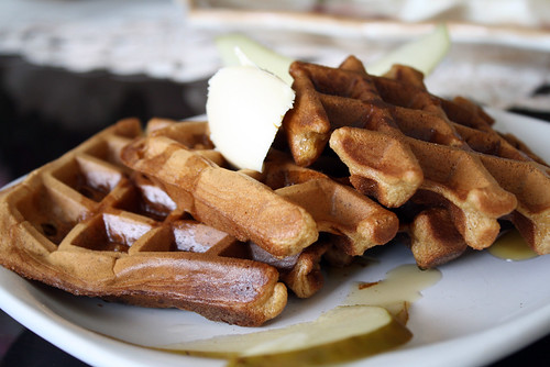 Ginger Pear Waffles