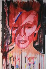 David Bowie Portrait (Close Up) (Dean Brierley) Tags: wallpaper david ink bowie paint drip aladdin sane