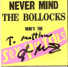 Never Mind the Bollocks, signed by Glen Matlock, 02/06/09 (Mafferz) Tags: punk autograph sexpistols lpcover glenmatlock