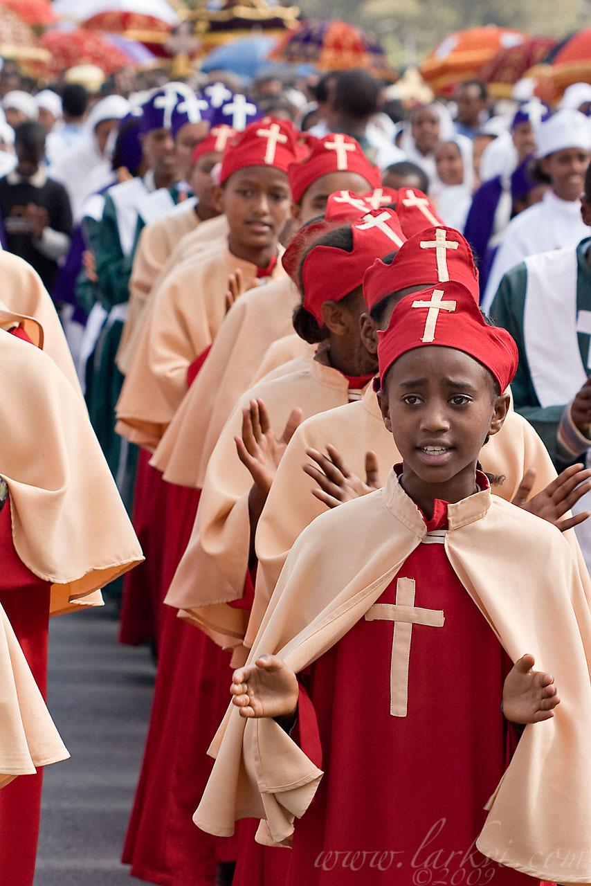 Choir, Timkat (Epiphany), Addis Ababa, Ethiopia, January 2009
