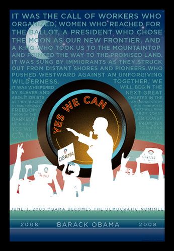 Obama Yes We Can Poster from CafePress.com/palinvsjesus