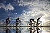 The Finish Line (Lee Sie) Tags: blue sky reflection bicycle silhouette backlight clouds speed trek bicycling cycling cyclists spokes gap chain pack biking winner sillouette tourdefrance bikerace peddle sprint siluetas velodrome pursuit bonk saddle hammering finishline breakaway echelon drafting peloton sie ridingbikes chasers hangingon accelerate biketoworkday goldenglobe leesie slipstream peleton uwb platinumphoto nikond40 trek1420 wheelsucker bikethrowing leadout