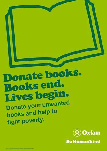 Donate books poster