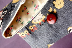 Folksy Clutch (Tiny House) Tags: linen purse clutch
