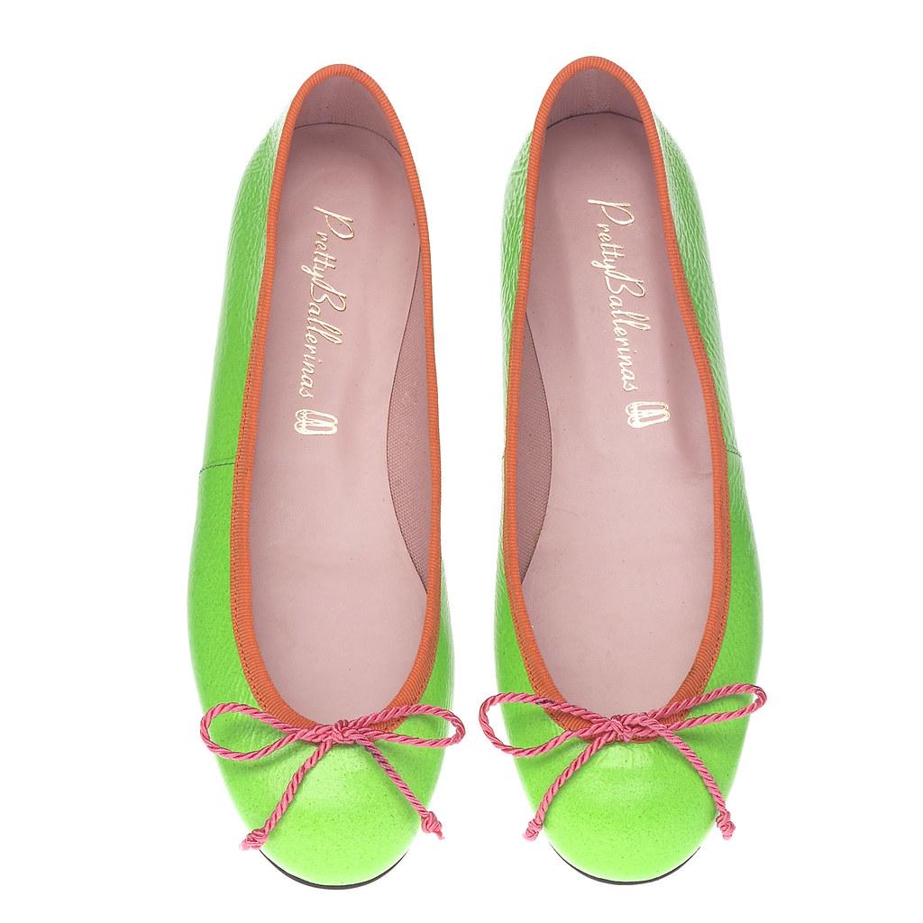 Rita green fluo & orange - pair. PVP 93€