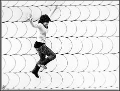 Aerial girl (Paco CT) Tags: salto jump chica girl hermi movimiento movement highkey clavealta santadriadelbesos barcelona spain pacoct 2009 es ltytr1 explore efh2009 expo01efh2009 candid robado efh elfactorhumano thehumanfactor people gente action accion flicker candidshot persons personas presenciahumana humanpresence bn bw blackandwhite blancoynegro free libre freedom libertad mujer woman joven young happy feliz happiness felicidad smile sonrisa