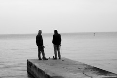 fishing mates. (sliceoflife) Tags: bay slovenia piran bayofpiran
