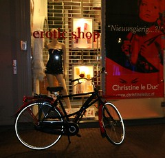Christine le Duc erotic shop by drooderfiets