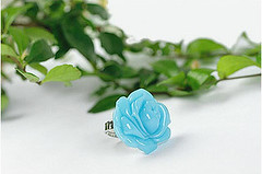 FPFD27288 BLUE $14 (Fantasy P) Tags: blue flower ring marbled