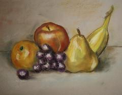 naturmort (serega:)) Tags: colour fruits painting paper pastel naturmort натюрморт