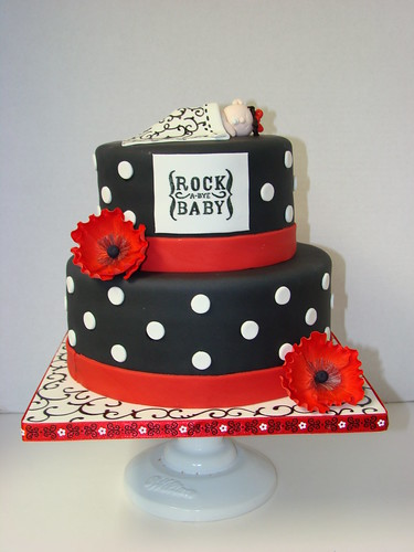 Rock a bye baby baby shower cake